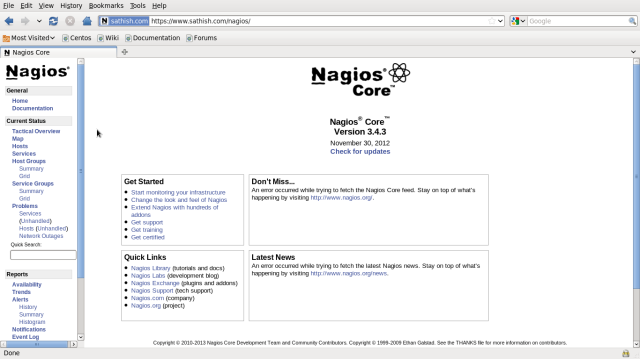 Installing and configuring Nagios (monitoring appication