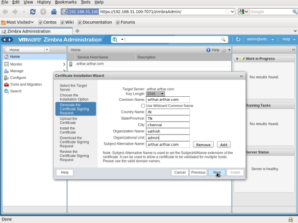 Configuring Zimbra Collaboration server (ZCS) | LINUX DIGEST