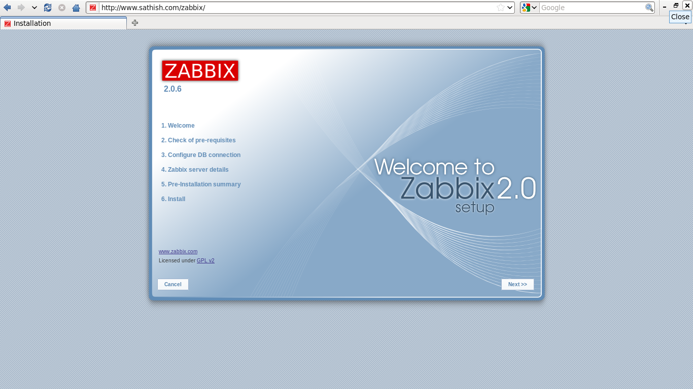 Change ip address zabbix server