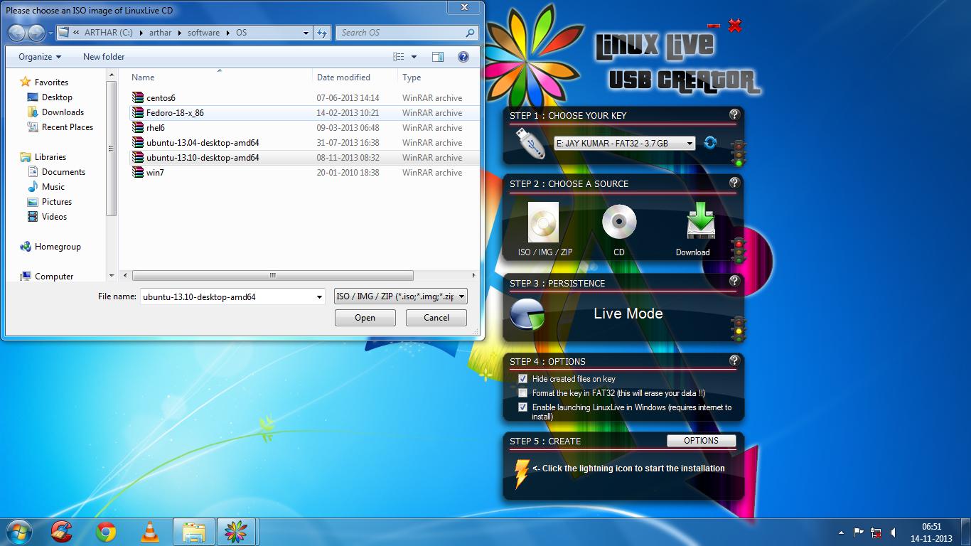 Установка ubuntu 1310 с флешки образ