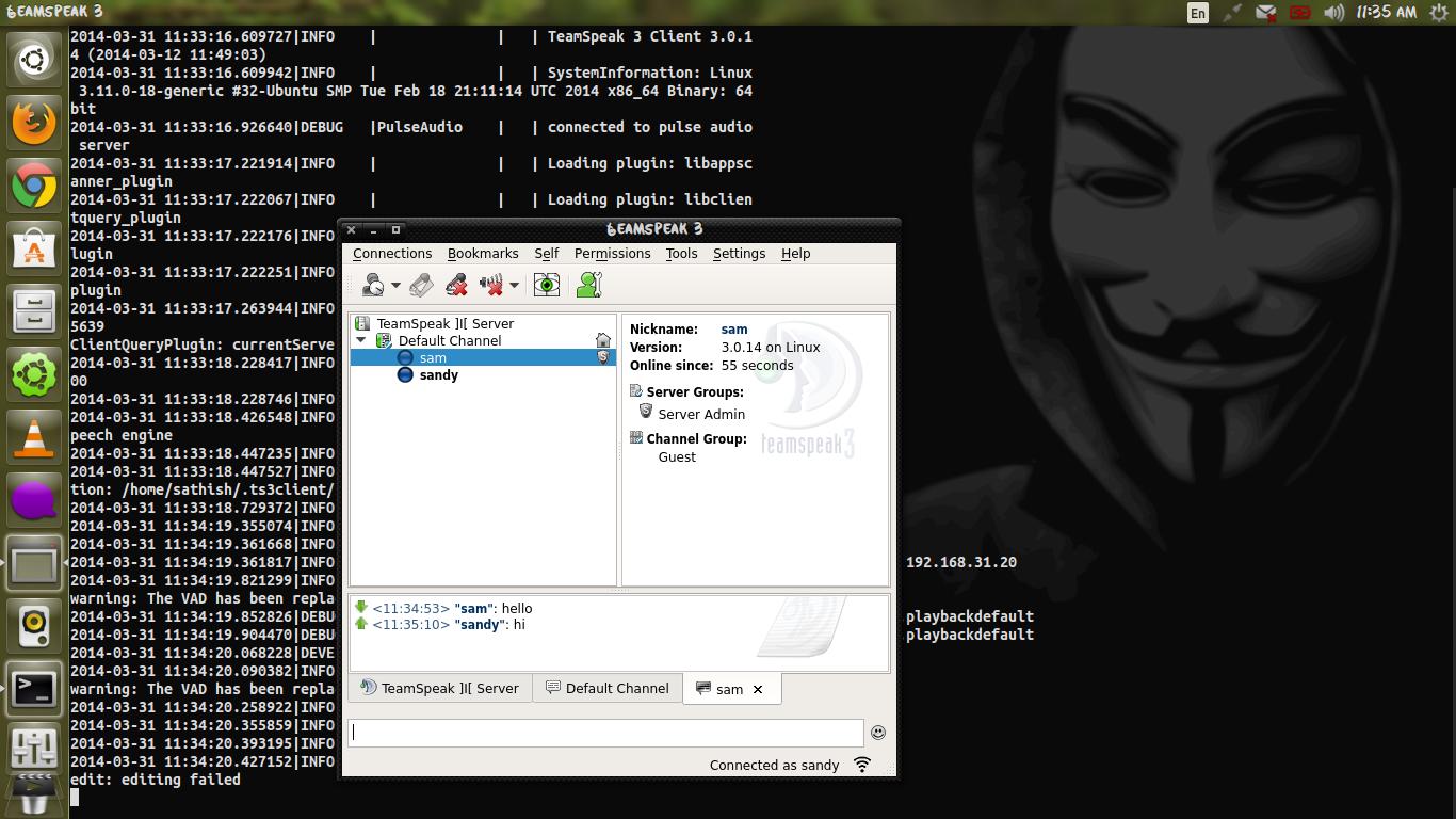 how to create a teamspeak server ubuntu