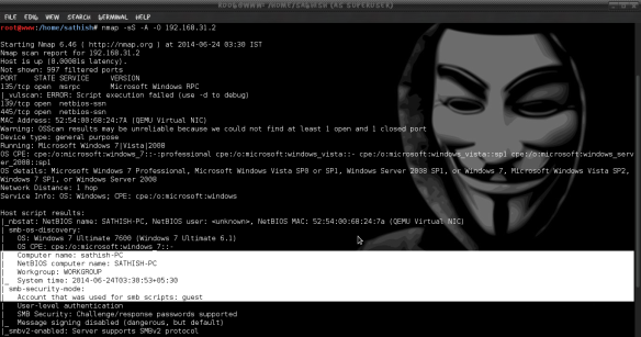 Brute-force SMB Shares in Windows 7 using Metasploit | LINUX DIGEST