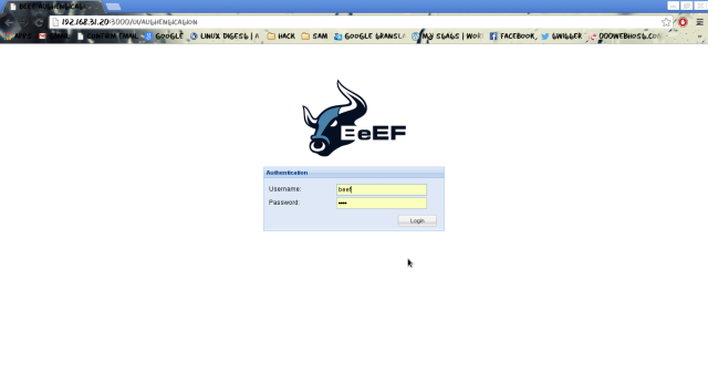 BeEf-Login-Screen