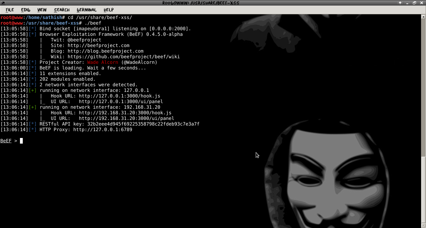 Hack facebook credentials using BeEF | LINUX DIGEST