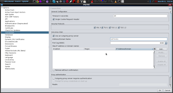 Intergrating pentesting Applications in OWSAP ZAP  | LINUX